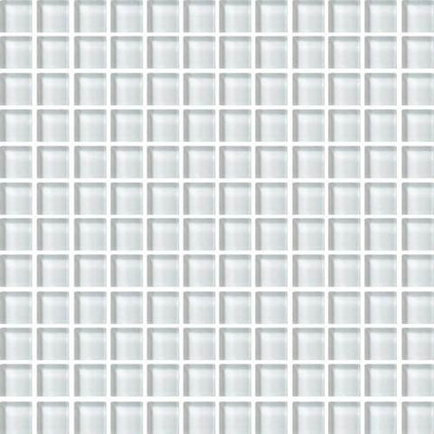 "Daltile Color Wave 1"" x 1"" Feather White Mesh Mounted Wall Tile"