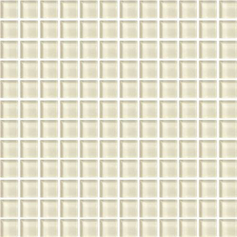 "Daltile Color Wave 1"" x 1"" Whipped Cream Mesh Mounted Wall Tile"