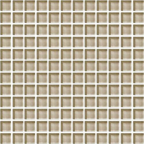 "Daltile Color Wave 1"" x 1"" Tango Tan Mesh Mounted Wall Tile - American Fast Floors"