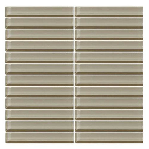 "Daltile Color Wave 1"" x 6"" Casual Tan Straight-Joint Mosaic Tile - American Fast Floors"