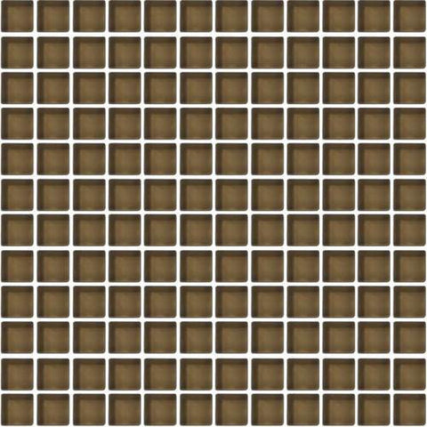"Daltile Color Wave 1"" x 1"" Suede Shoes Mesh Mounted Wall Tile"