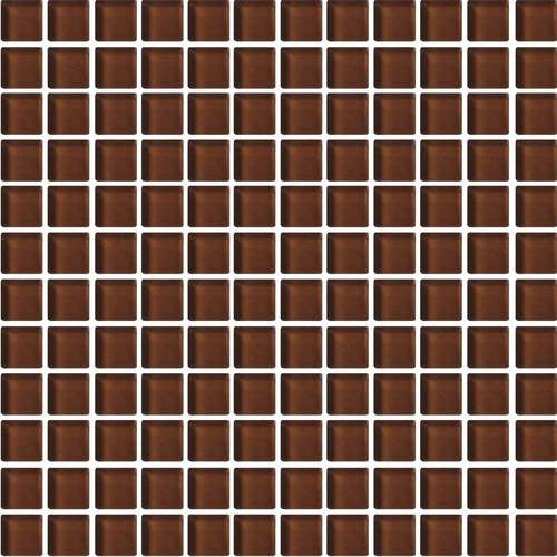 "Daltile Color Wave 1"" x 1"" Root Beer Mesh Mounted Wall Tile - American Fast Floors"