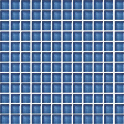 "Daltile Color Wave 1"" x 1"" Twilight Blue Mesh Mounted Wall Tile"