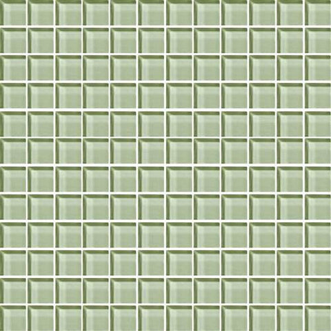 "Daltile Color Wave 1"" x 1"" Green Parade Mesh Mounted Wall Tile - American Fast Floors"