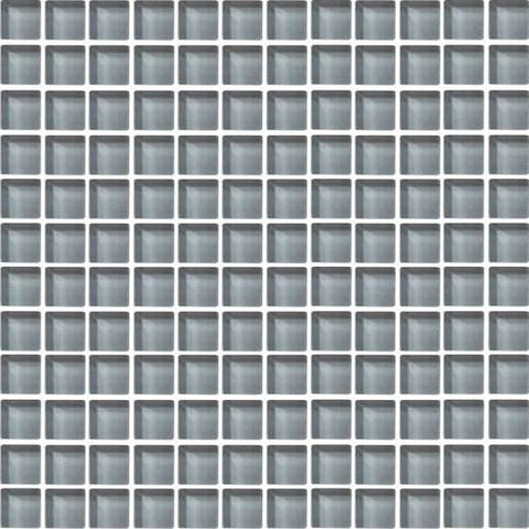 "Daltile Color Wave 1"" x 1"" Smoked Pearl Mesh Mounted Wall Tile"