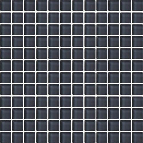 "Daltile Color Wave 1"" x 1"" Nine Iron Mesh Mounted Wall Tile"