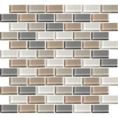 "Daltile Color Wave 2"" x 1"" Willow Waters Blend Brick Joint Blend Mosaic Tile"