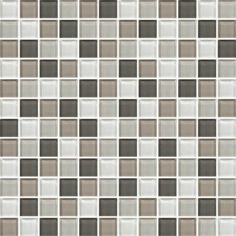 "Daltile Color Wave 1"" x 1"" Soft Cashmere Blend Blend Mosaic Wall Tile"