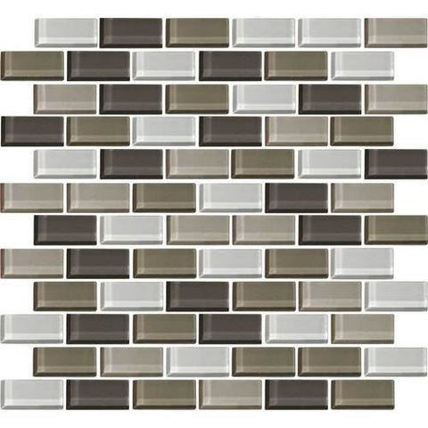 "Daltile Color Wave 2"" x 1"" Soft Cashmere Blend Brick Joint Blend Mosaic Tile"
