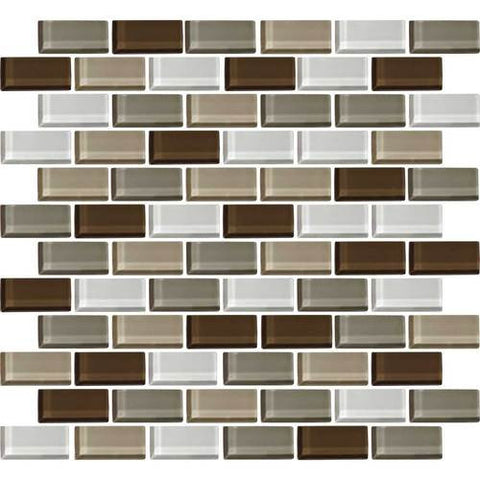 "Daltile Color Wave 2"" x 1"" Downtown Oasis Blend Brick Joint Blend Mosaic Tile"