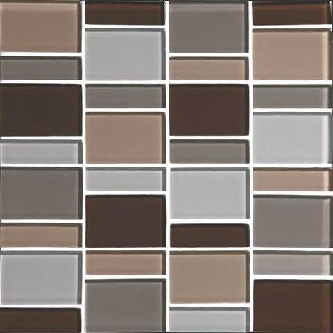 "Daltile Color Wave 12"" x 12"" Sweet Escape Blend Random Block Blend Mosaic Tile - American Fast Floors"