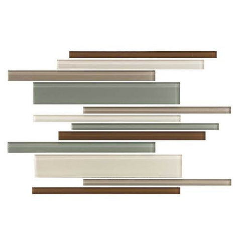 "Daltile Color Wave 12"" x 18"" Sweet Escape Blend Interlocking Accent Blend Wall Tile - American Fast Floors"