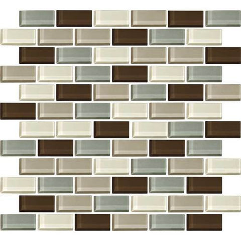 "Daltile Color Wave 2"" x 1"" Sweet Escape Blend Brick Joint Blend Mosaic Tile"