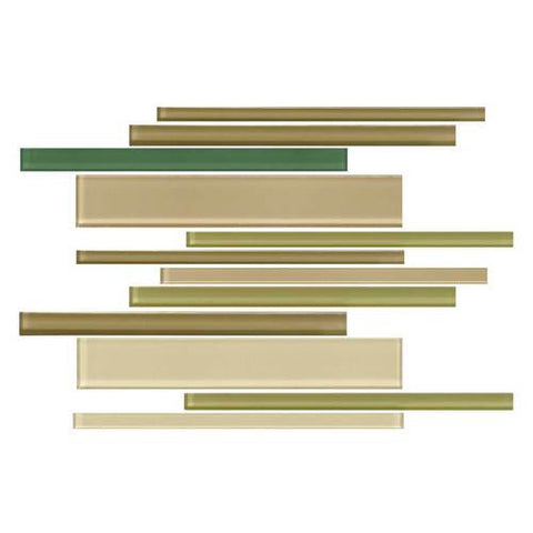 "Daltile Color Wave 12"" x 18"" Rain Forest Blend Interlocking Accent Blend Wall Tile - American Fast Floors"