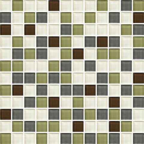 "Daltile Color Wave 1"" x 1"" Autumn Trail Blend Blend Mosaic Wall Tile - American Fast Floors"