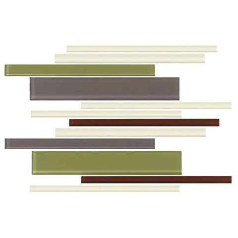 "Daltile Color Wave 12"" x 18"" Autumn Trail Blend Interlocking Accent Blend Wall Tile"