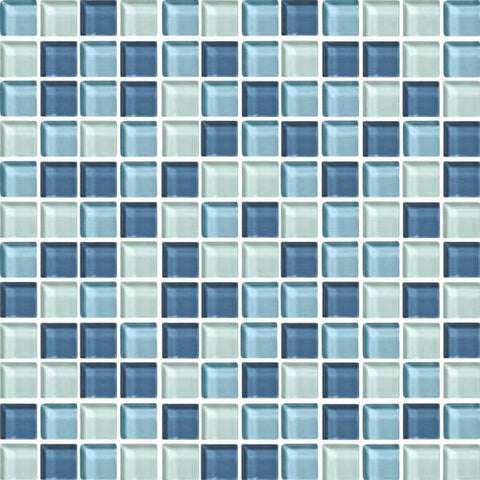 "Daltile Color Wave 1"" x 1"" Winter Blues Blend Blend Mosaic Wall Tile - American Fast Floors"