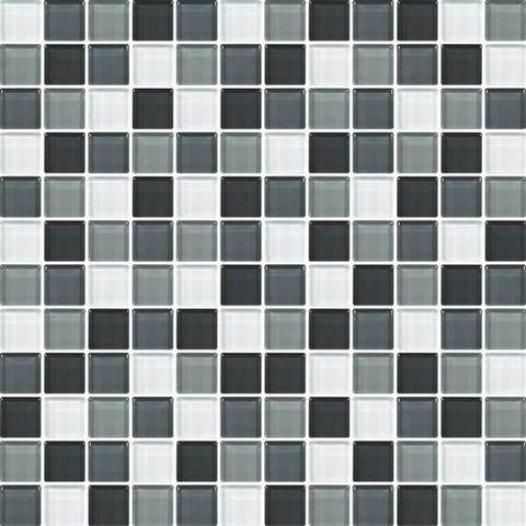 "Daltile Color Wave 1"" x 1"" Evening Mixer Blend Blend Mosaic Wall Tile"