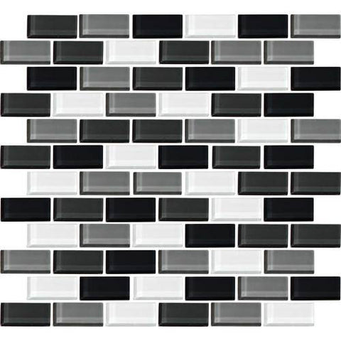 "Daltile Color Wave 2"" x 1"" Evening Mixer Blend Brick Joint Blend Mosaic Tile"