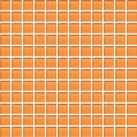 "Daltile Color Wave 1"" x 6"" Russet Orange Straight-Joint Mosaic Tile"
