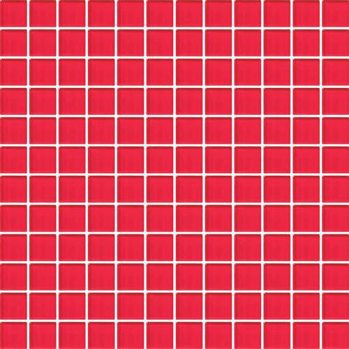 "Daltile Color Wave 1"" x 1"" Red Hot Mesh Mounted Wall Tile - American Fast Floors"