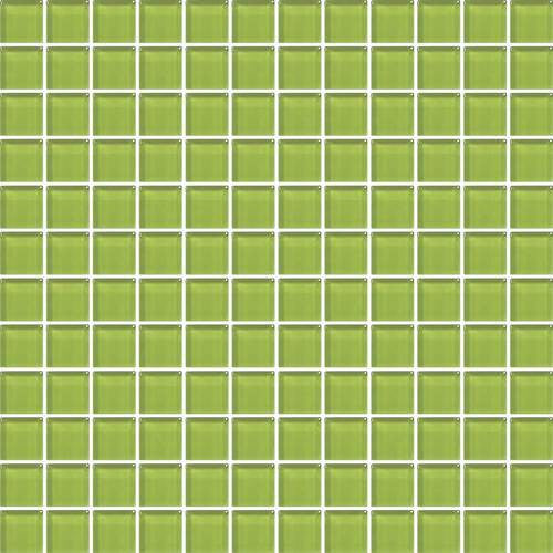 "Daltile Color Wave 1"" x 1"" Lime Glow Mesh Mounted Wall Tile - American Fast Floors"