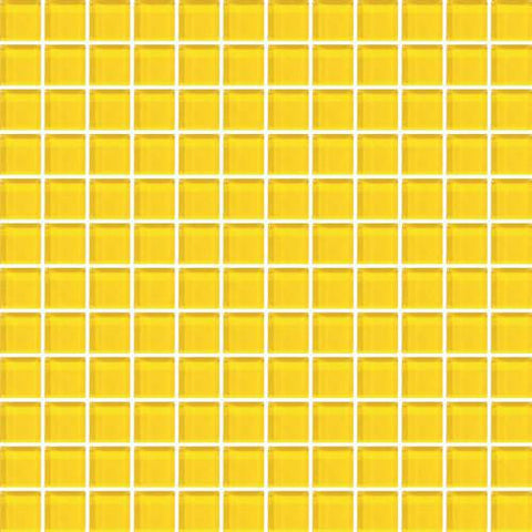 "Daltile Color Wave 1"" x 1"" Lemon Popsicle Mesh Mounted Wall Tile - American Fast Floors"