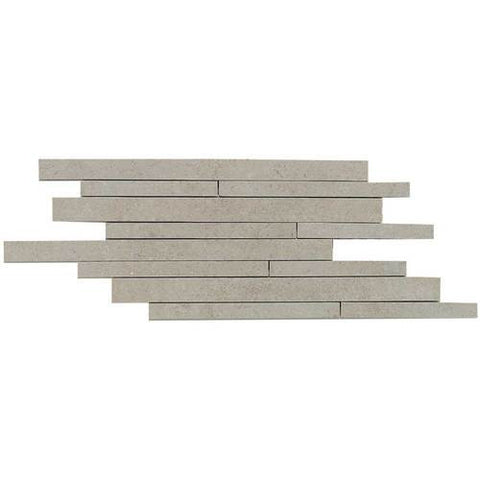 "Daltile City View 9"" x 18"" Skyline Gray Random Linear Brick Joint"
