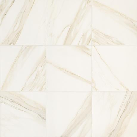 "Marazzi Timeless Collection 18""x36"" Calacatta Pearl Rectified Floor Tile"