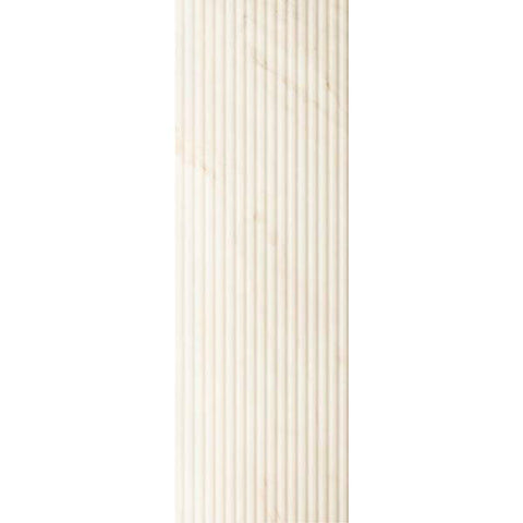 "Calacatta 12""X36"" Rectified Suite Lines Blanco Wall Tile"