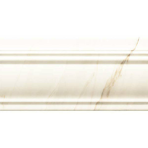 "Calacatta 6""X12"" Zocalo Blanco Base Moulding - American Fast Floors"