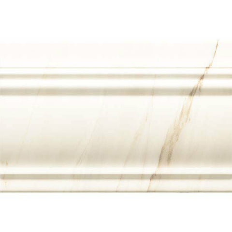 "Calacatta 8""X12"" Rectified Zocalo Blanco Base Moulding"