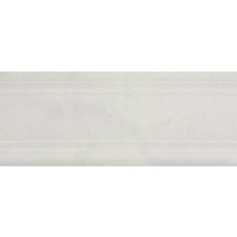 "Carrara 5""X12"" Rectified Cenefa Blanco Listel - American Fast Floors"