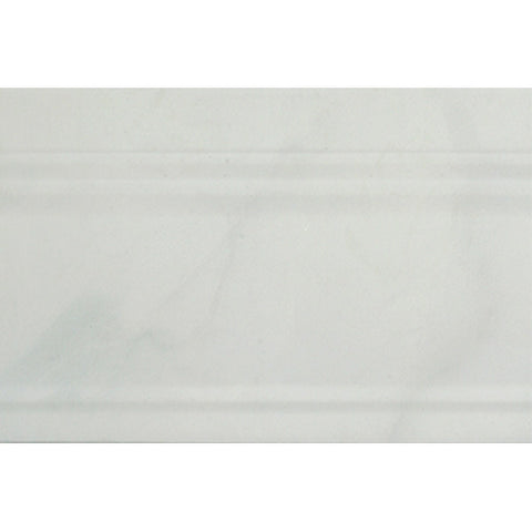"Carrara 8""X12"" Rectified Zocalo Blanco Base Moulding - American Fast Floors"