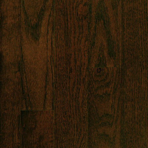 "Mullican Quail Hollow 2-1/4"" Oak Chocolate Solid Hardwood"