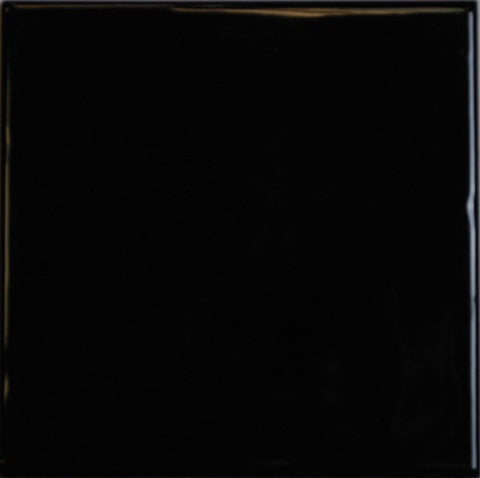 "Color Collection Bright 4-1/4""X4-1/4"" Black Surface Bullnose"