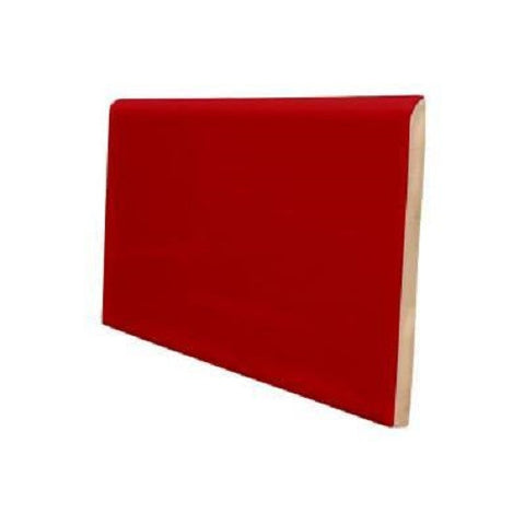 "Color Collection Bright 4""X6"" Red Pepper Right Cove Angle - American Fast Floors"