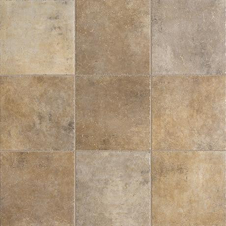 "Marazzi Walnut Canyon 13""x13"" Cream Mesh Mounted Brick Mosaic"
