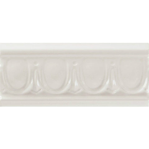 "Decorative Accents 2-1/2""X6"" White Ice Egg & Dart Listel"