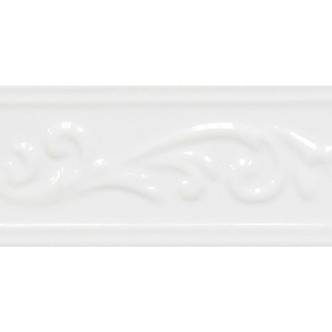 "Decorative Accents 3""X6"" White Ice Ivy Listel"