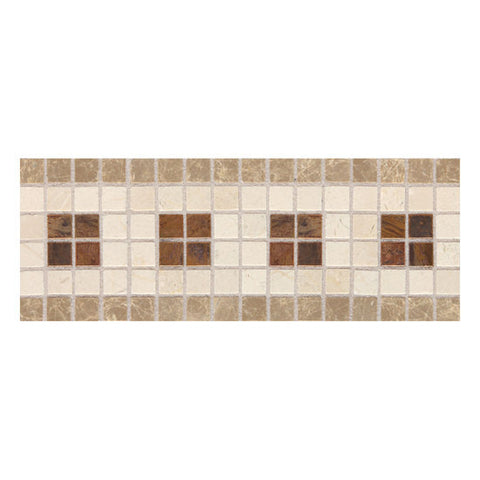 American Olean Designer Elegance Combinations 4 x 11 Penny Square Accent