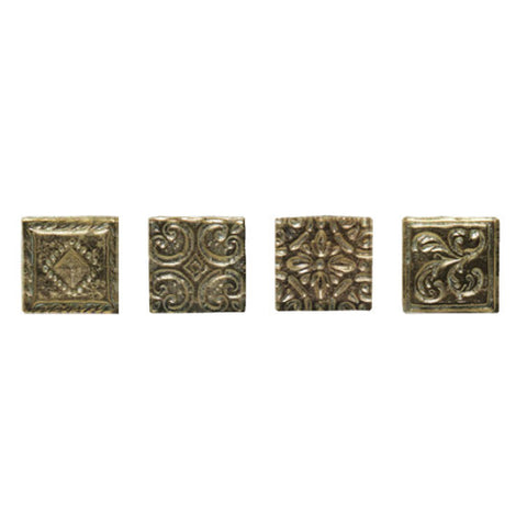 American Olean Designer Elegance Combinations 2 x 2 Pewter Emblems Dot