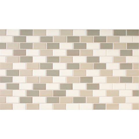 "Daltile Keystones 11-7/8"" x 23-7/8"" Mirage Brickjoint Blend Mosaic"