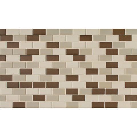 "Daltile Keystones 11-7/8"" x 23-7/8"" Chocolate Brickjnt Blend Mosaic - American Fast Floors"