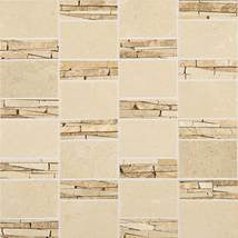 Daltile (Marble) 12 x 12 Crema Marfil Abstract Mosaic Polished - American Fast Floors