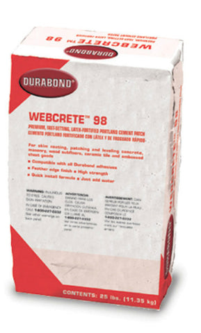 Webcrete 98 Fortified Cement Patch - 25 Lb - American Fast Floors