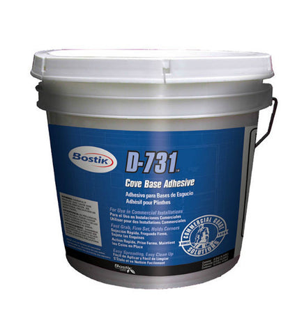 D-731 White Acrylic Cove Base Adhesive - 4 Gallon - American Fast Floors