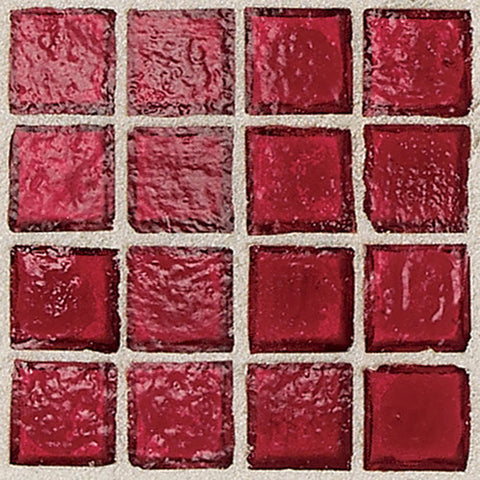 "Daltile Egyptian Glass 12"" x 12"" Crimson Mosaic - American Fast Floors"