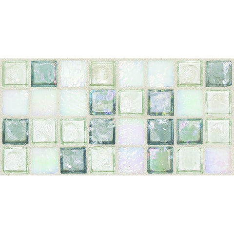 "Daltile Egyptian Glass 12"" x 12"" Moonstone Mosaic"