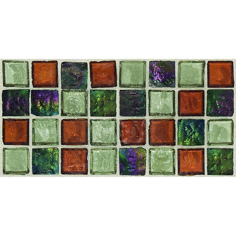 "Daltile Egyptian Glass 12"" x 12"" Amber Medley Mosaic"